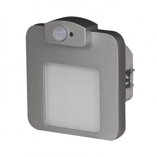 Spot Moza LED aluminiu, lumina calda, senzor miscare, 1.23W, 230V, IP20