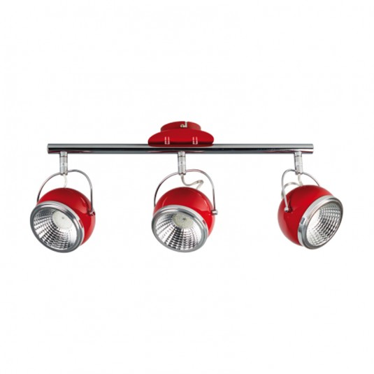 Lustra BALL rosu 3x5W, GU10, LED, metal - SKU 2686386