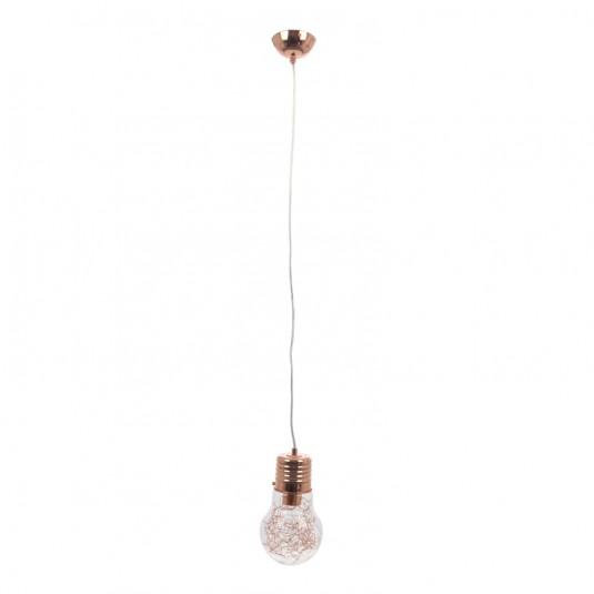 Pendul BULB cupru 1x60W, E27, sticla - SKU 2810113