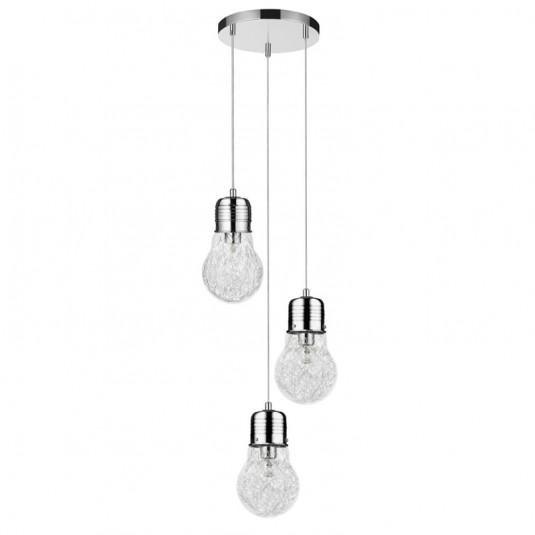 Bulb Lustra crom 3x60W, E27, sticla - inactiv