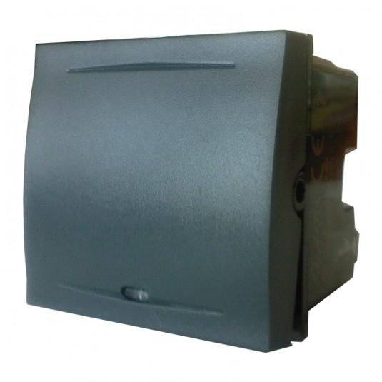 ESPERIA Intrerupator iluminat clapa 2 module, 16A, negru