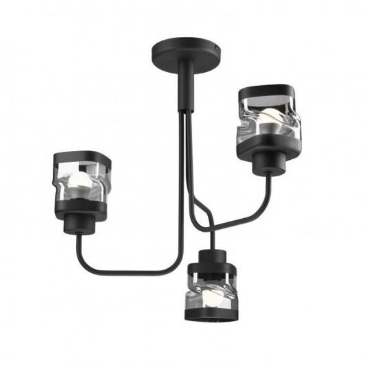 Lustra HUGO negru 3x60W E27, sticla - SKU LM 3.126 - 39961