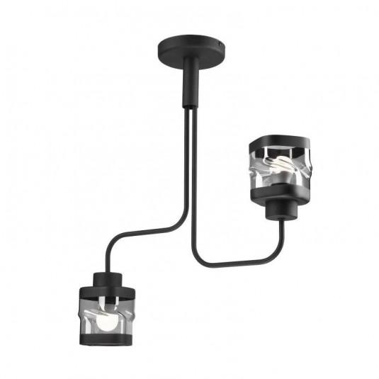 Lustra HUGO negru 2x60W E27, sticla - SKU LM 2.126 - 39978