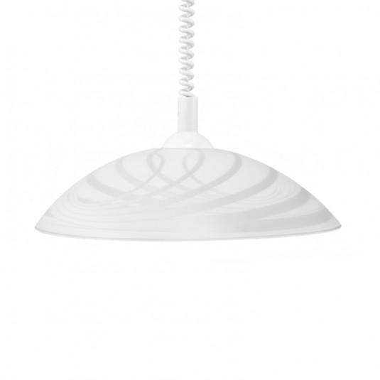 Pendul SYDNEY alb, 1x60W, E27, sticla - SKU 4234502A