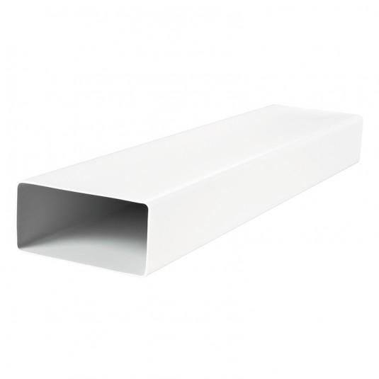 VENTS Tub rectangular PVC, 110*55mm, L 1000mm