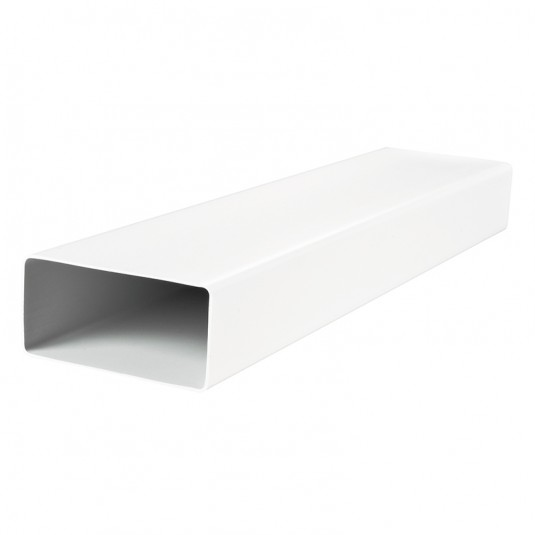 VENTS Tub rigid rectangular PVC 60x120mm, L=500mm