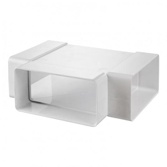 VENTS Teu 90 grade, tub rectangular PVC, 204*60