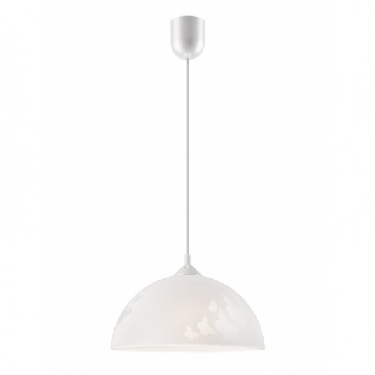 Pendul  alb 1x60W E27, sticla - SKU LM 1.3.6 - 31286