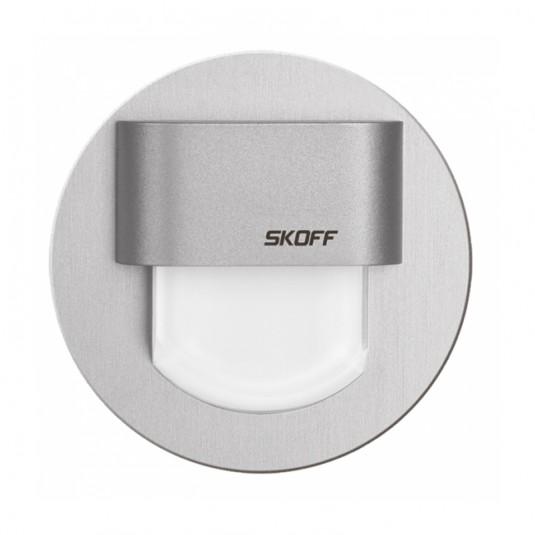 Spot Rueda Mini LED aluminiu, lumina rece, 0.4W, 10V, IP20