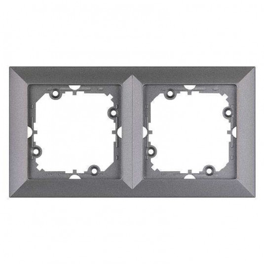 PERLA Rama antracit metalic 2 posturi - SKU Ra-2P AN