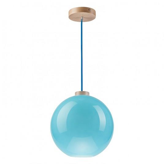 Pendul albastru, 1x60W, sticla  - SKU LM 1.1/37 - 28866
