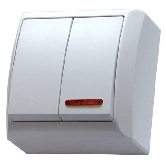 BIS Comutator iluminat aplicat IP 20