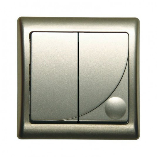 EFEKT Comutator iluminat satin - SKU LP-2FBS sa
