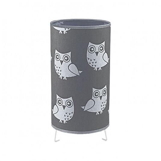KIDS OWL Veioza 1xE27 40W , textil