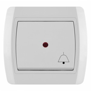 METALKA Intrerupator cu revenire iluminat- buton sonerie