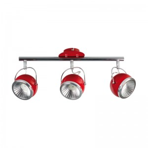 Lustra BALL rosu 3x5W, GU10, LED, metal