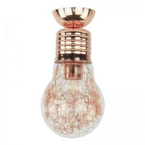 Bulb Plafoniera cupru 1xE27 60W, sticla