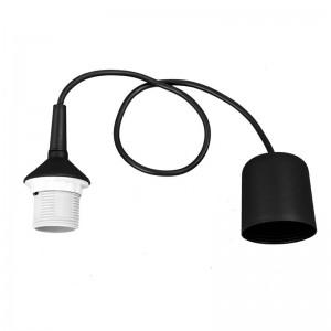 Cablu suspensie lustra negru plastic, E27, IP20