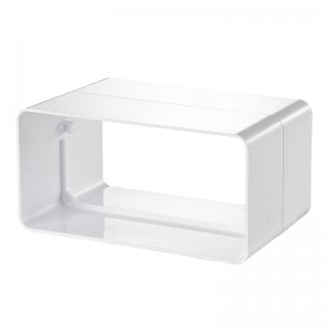 VENTS Conector tub rectangular PVC, diam 204*60mm