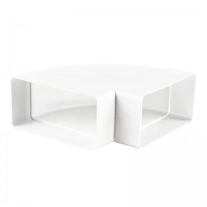 VENTS Cot orizontal 90 grade PVC, 110*55mm