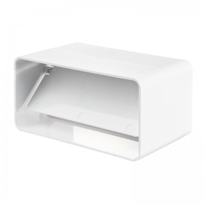 VENTS Conector cu clapeta antiretur, tub rectangular PVC, diam 204*60mm