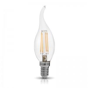 Bec lumanare LED decorativ 4W E14, 3000K, lumina calda