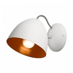 Aplica LIVIA alb 1x60W E27, metal