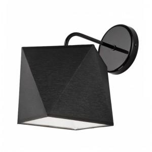 Aplica CARLA negru 1x60W E27, textil