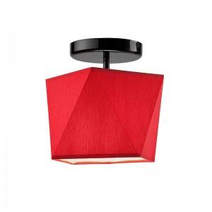 Pendul CARLA rosu 1x60W E27, textil