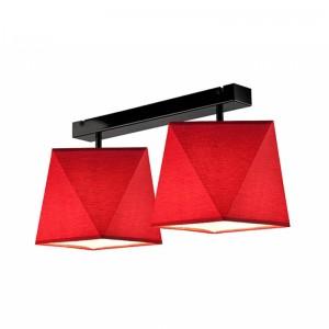 Lustra CARLA rosu 2x60W E27, textil