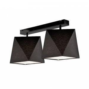 Lustra CARLA negru 2x60W E27, textil