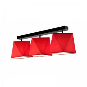 Lustra CARLA rosu 3x60W E27, textil
