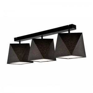 Lustra CARLA negru 3x60W E27, textil
