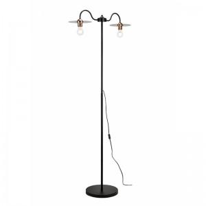 Lampadar ALICE negru 2x60W E27, metal