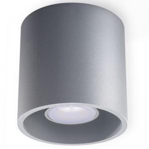 Plafoniera ORBIS gri 1x40W GU10, aluminiu