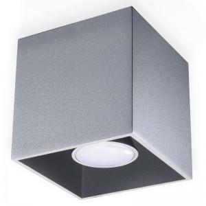 Plafoniera QUAD gri 1x40W GU10, aluminiu