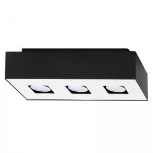 Plafoniera MONO alb/negru 3x40W GU10, metal