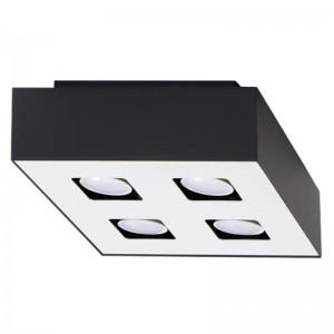 Plafoniera MONO alb/negru 4x40W GU10, metal