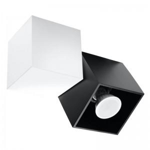 Plafoniera OCCHIO alb/negru 1x40W GU10, aluminiu