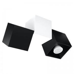 Plafoniera OCCHIO alb/negru 2x40W GU10, aluminiu