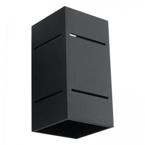 Aplica BLOCCO negru 1x40W G9, aluminiu