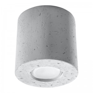 Plafoniera ORBIS alb 1x40W GU10, beton