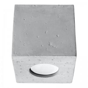 Plafoniera QUAD alb 1x40W GU10, beton