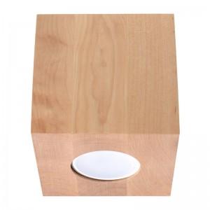 Plafoniera QUAD lemn natur 1x40W GU10, lemn
