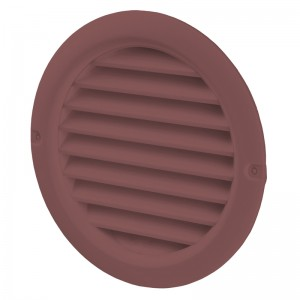 VENTS Grila PVC maro  inchis, plasa antiinsecte, diam 100mm