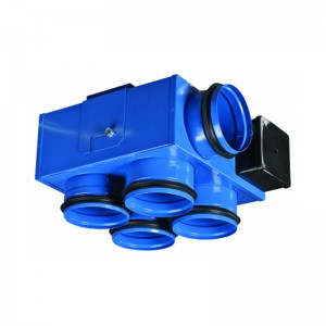 VENTS Ventilator tubulatura 3 viteze, 1 intrare 4 iesiri, 97/138/176 mc/h