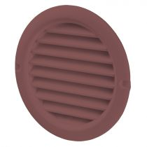 VENTS Grila PVC maro, plasa antiinsecte, diam 150 mm