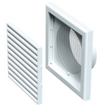 VENTS Grila PVC 193*193mm cu racord fi 125 mm