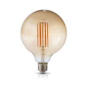 Bec LED decorativ 7W E27 diam 125 mm, 3000K, lumina calda