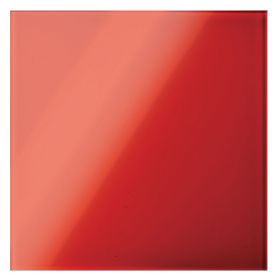 Panou decorativ 160x160mm, sticla, rosu